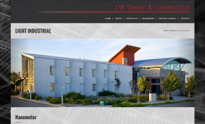 Commercial Builder Website- Website Developement - San Luis Obispo, CA - Studio 101 West Graphic Design
