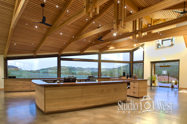Architectural Interior Photographer - Paso Robles Winery Photography - Studio 101 West Photography