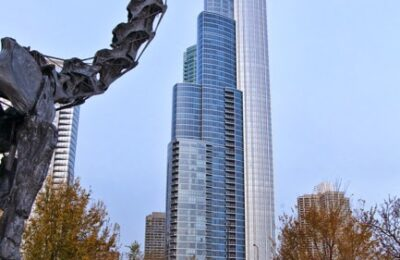 Chicago Architecture Photography - Dinosar eating building - Studio 101 West Photography