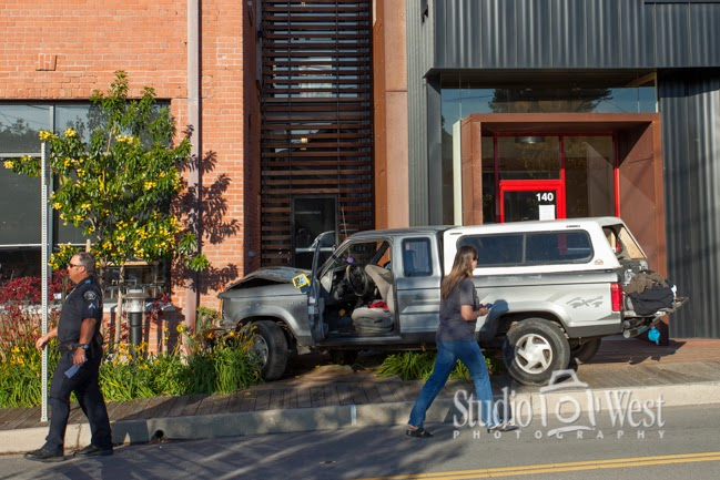 Truck vrs 100 year old building, building wins
