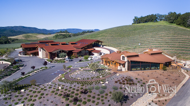 FAA Drone Licensed Photographer - Paso Robles Winery Photography - Studio 101 West Photography