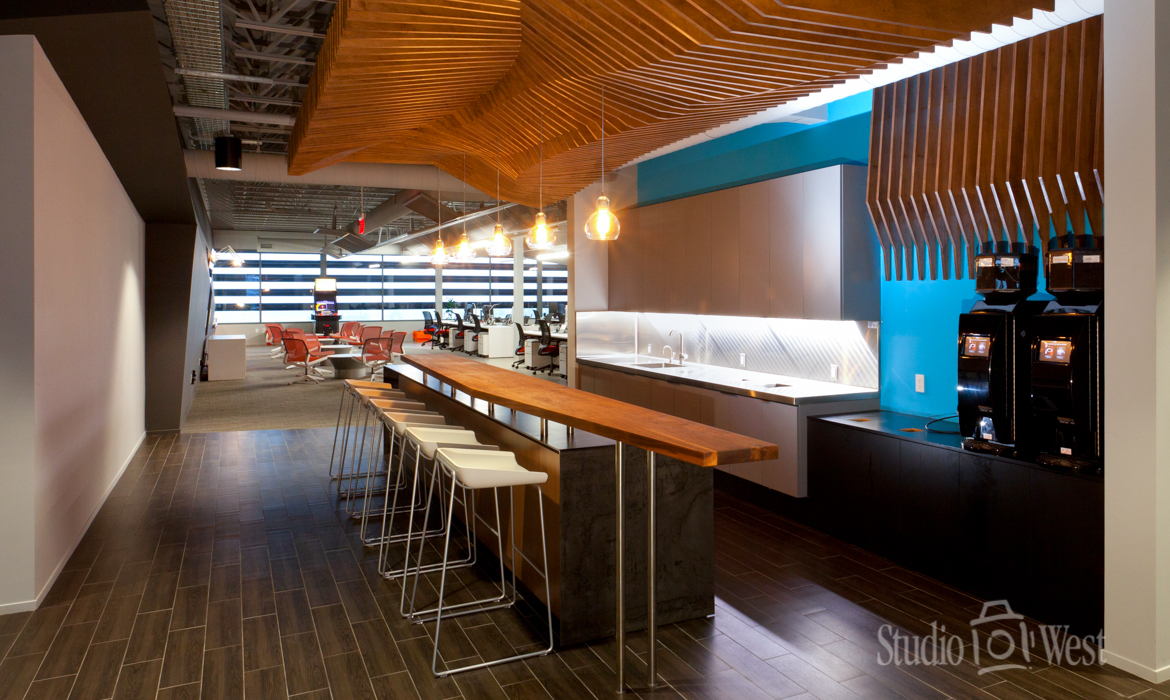 Architectural Photography - Rosetta Software Coffee Bar - Studio 101 West Photography