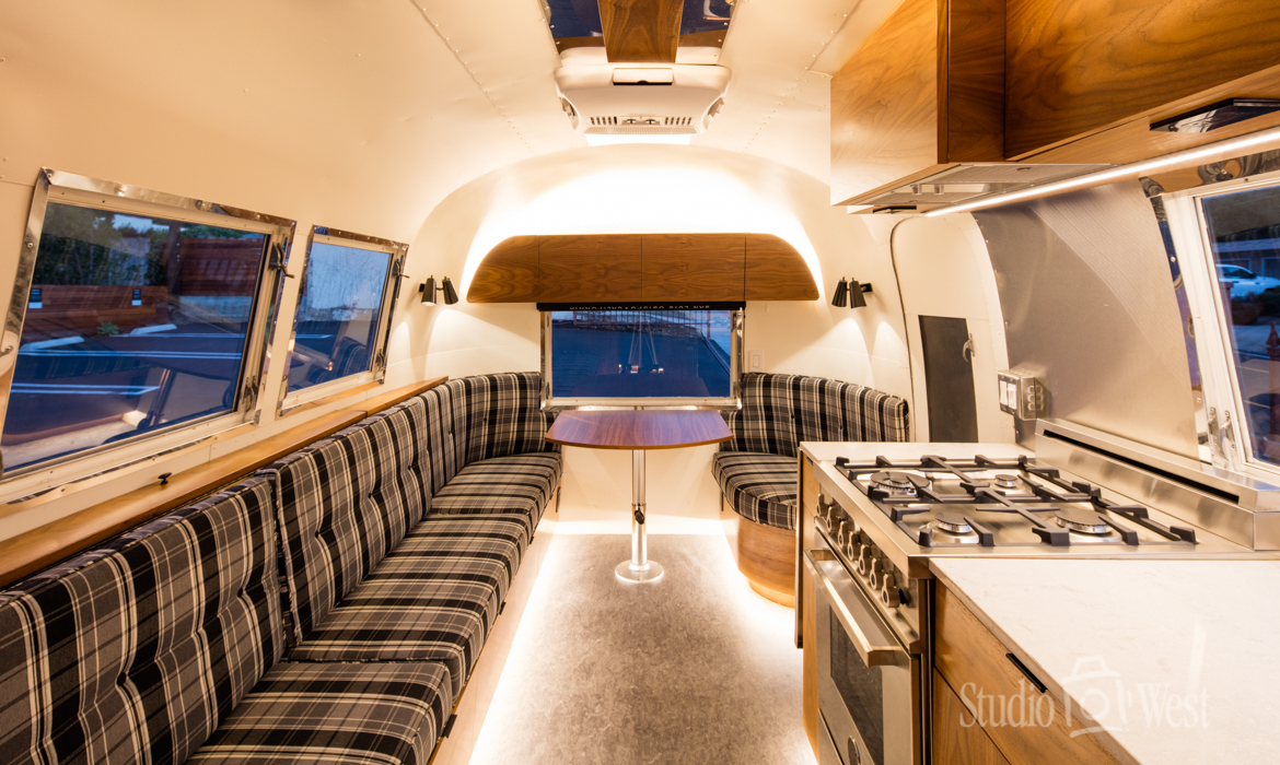 Butler Hotel Airstream Interior - Architectural Photography - Studio 101 West Photography