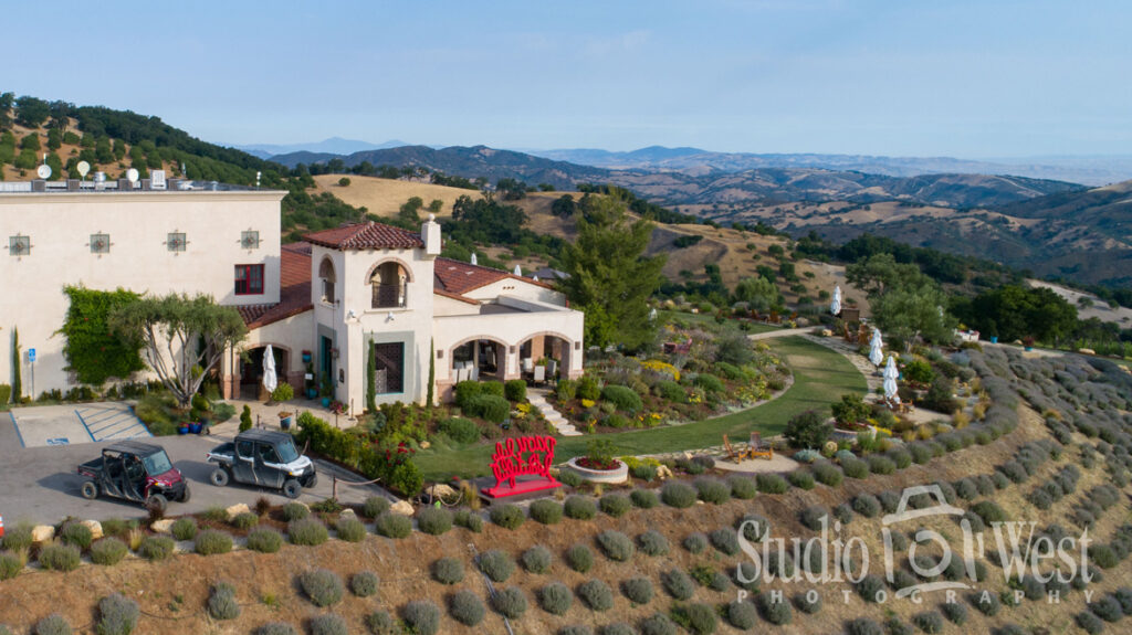 DAOU Winery - Daou Family Estate - Drone Photographer - Architectural Photography - Studio 101 West Photography