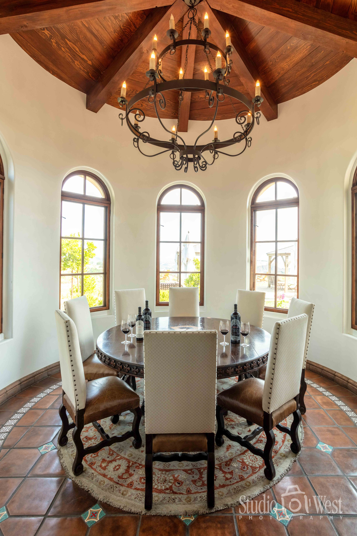 DAOU Winery - Daou Family Estate - Wine Tasting Private Room - Architectural Photography Interior - Studio 101 West Photography