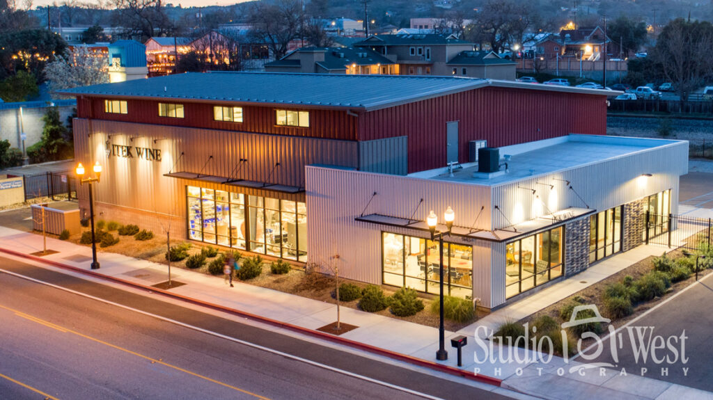 Itek Wine making Supplies - Brewing supplies - Architectural Drone Aerial photography - Photography at dusk - Building Photography Paso Robles - Paso Robles Architectural Photography - Studio 101 West Photography