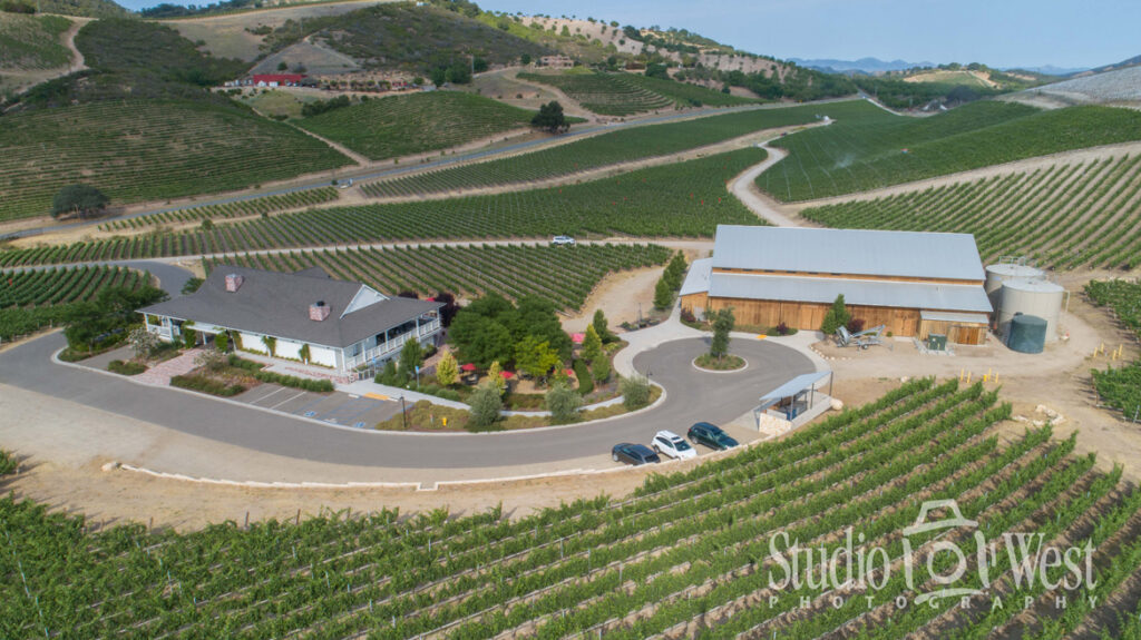 Winery Photographer - Aerial Drone Photography - Parrish Family Vineyard Paso Robles - Paso Robles Vineyard and Architecture Photography - Studio 101 West Photography