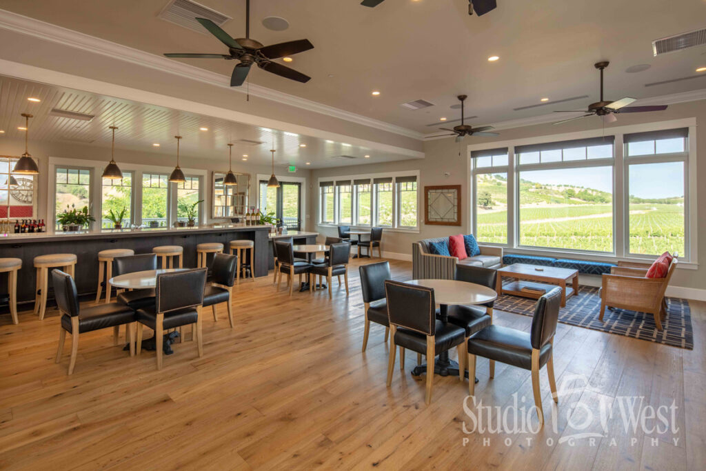 Parrish Family Vineyard Tasting Room - Interior Professional Photography - Winery Website Photography - Studio 101 West Photography