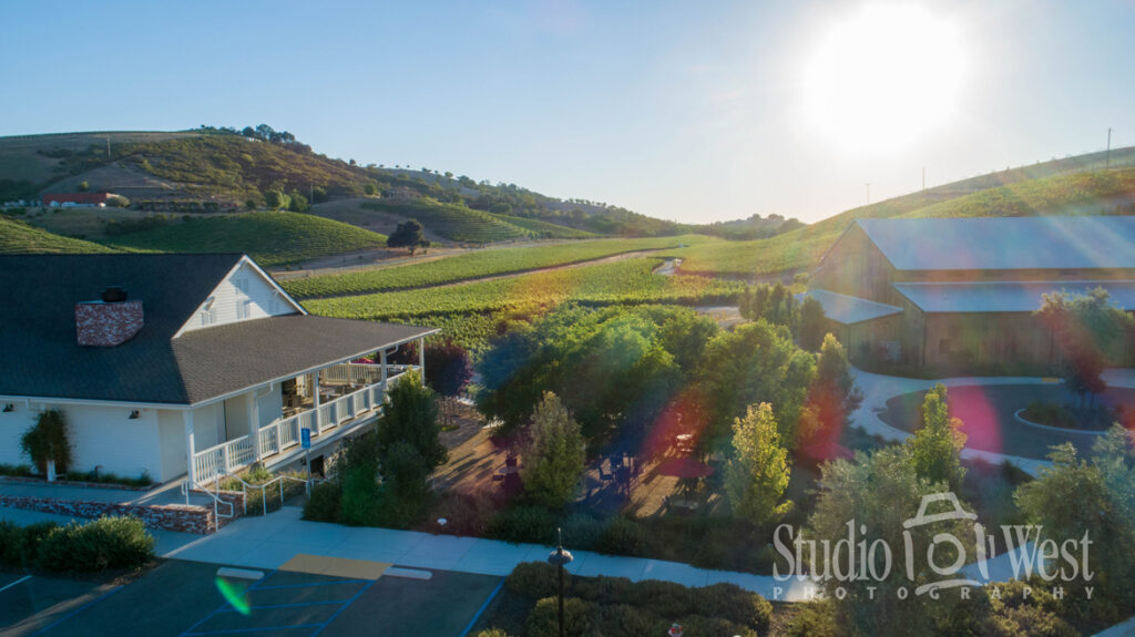 Winery Photographer - Aerial Drone Photography - Parrish Family Vineyard Paso Robles - Paso Robles Architecture Photography - Studio 101 West Photography