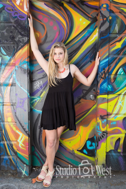 Paso Robles Senior Picture with Graffiti - Studio 101 West Photography