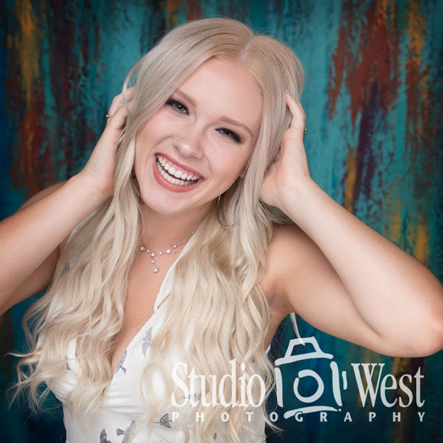 Senior Portrait - Studio lighting - custom background for Senior Portraits - San Luis Obispo Senior Portraits - Studio 101 West Photography