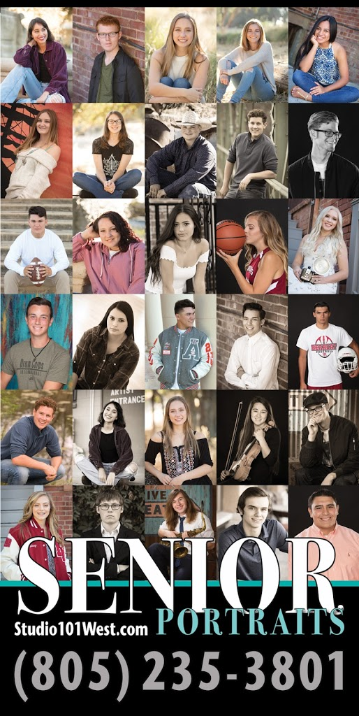 Atascadero high school senior portraits - Studio 101 West Photography