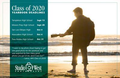 Senior Portrait Photography - Yearbook deadline - Class of 2022 - San Luis Obispo County Senior Portrait Photographer - Atascadero Photography Studio - Paso Robles Portrait Photography - Templeton High School Senior Portraits - Studio 101 West Photography