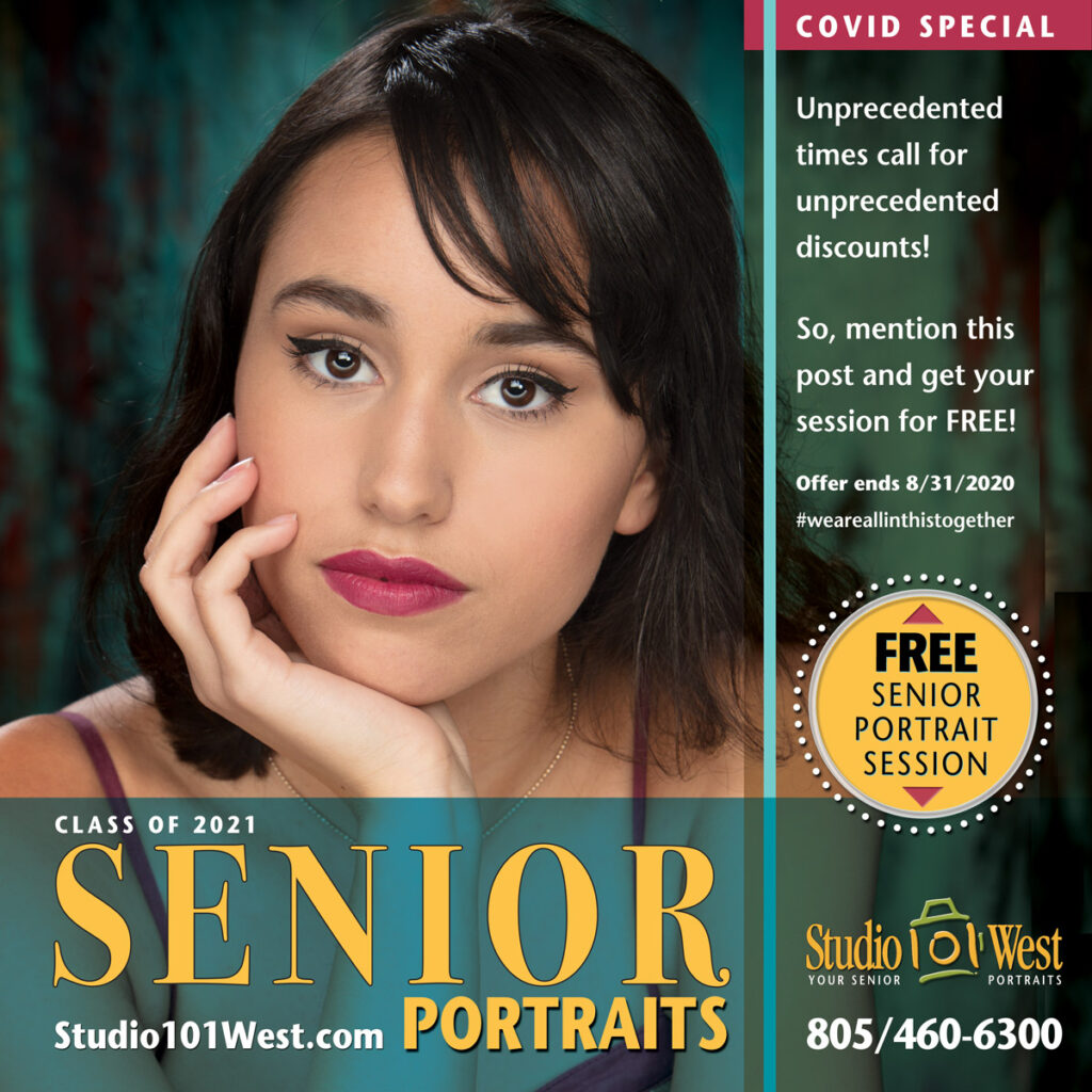 Class of 2021 Senior Portrait - Portrait Photographer - Covid Special - Discount - Free Session - Studio 101 West Photography