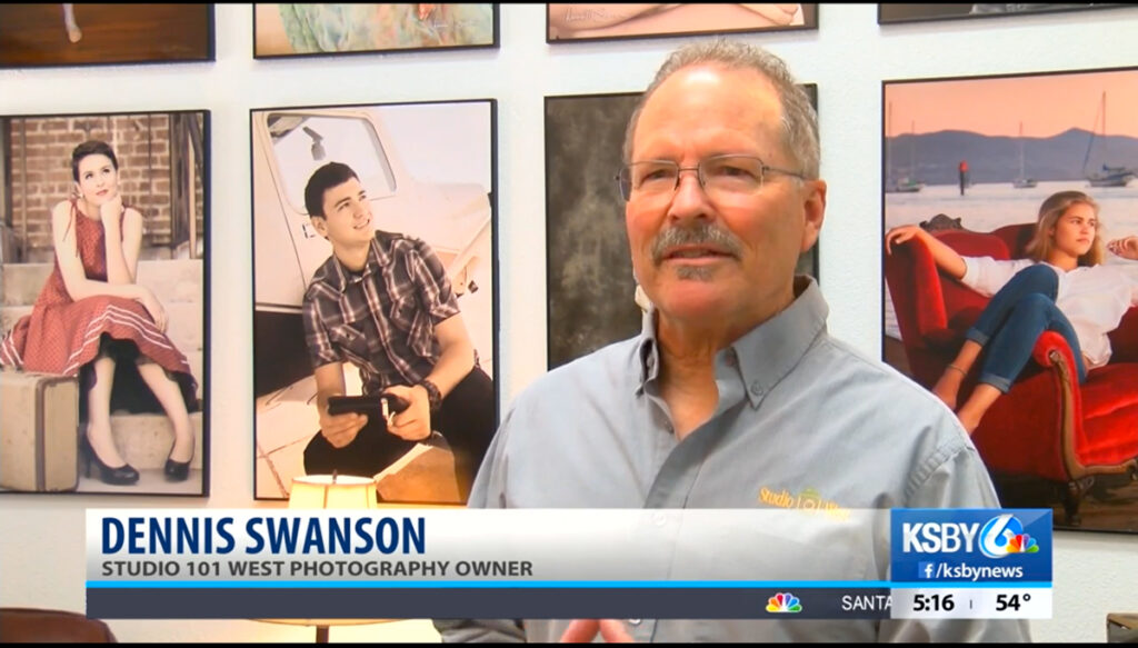 KSBY Interviews Dennis Swanson - Studio 101 West Photography - Portrait Photographer - Atascadero California - Graduation Photography