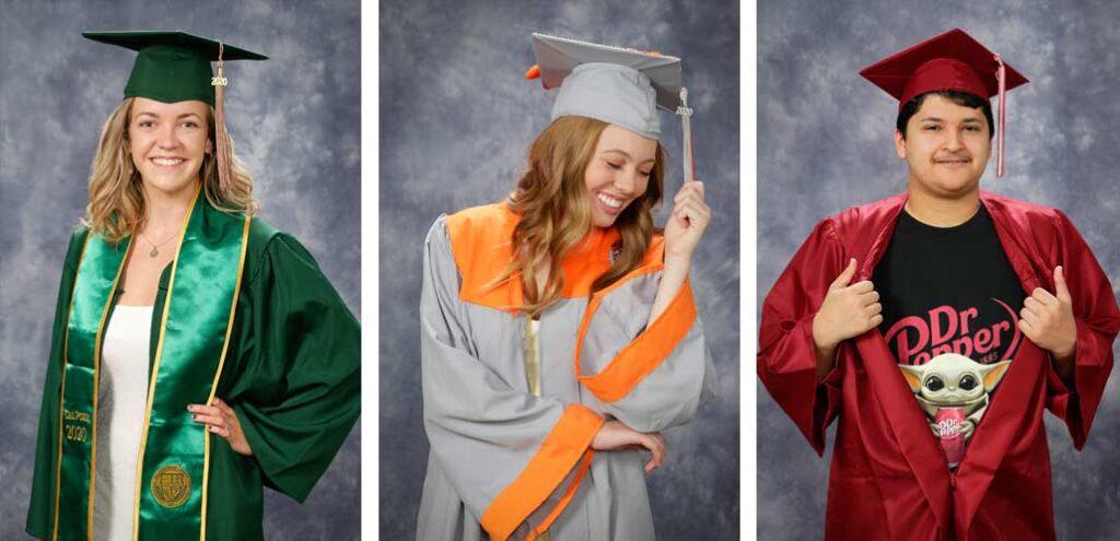 Free Cap and Gown Portrait - Graduation portrait - COVID Special - High School Senior Photographer - Photography Studio - Studio 101 West Photography
