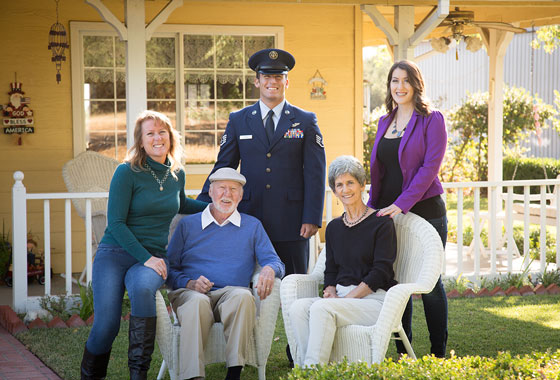 Paso Robles Family Portrait at Home - Military Family Portrait - Studio 101 West Photography
