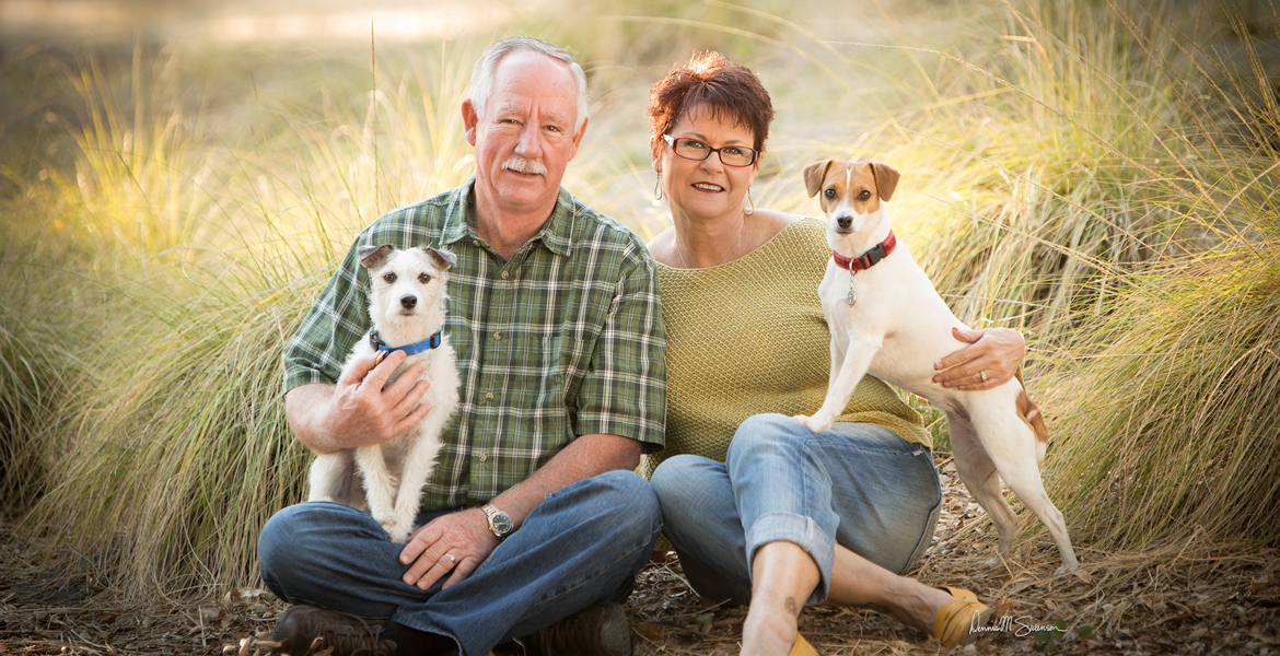 Atascadero Outdoor Family Portrait - Portrait with Dogs - Studio 101 West Photography