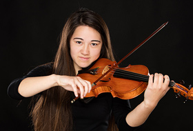 Studio Senior Portrait Photography - Violin Senior Pictures - Studio 101 West Photography