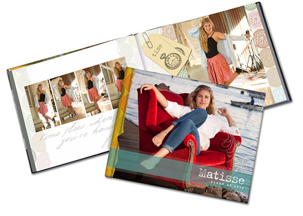 Senior Portrait Products - Designer Book - Senior Grad Book - Studio 101 West Photography Products