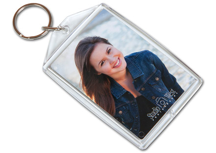 Senior Portrait Products - Senior Grad Photo Key Chain - Mother's Key Photo Key Chain - Studio 101 West Photography Products